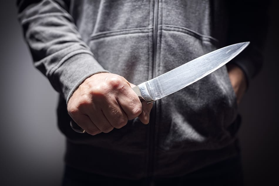 Holding a Knife or Dagger