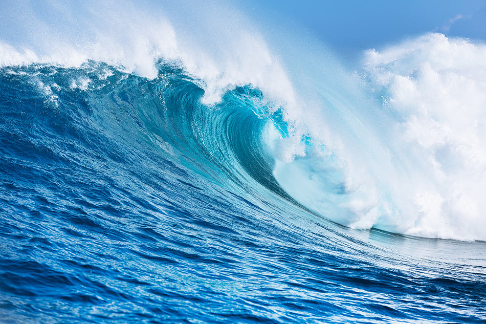 The Ocean and Large Waves