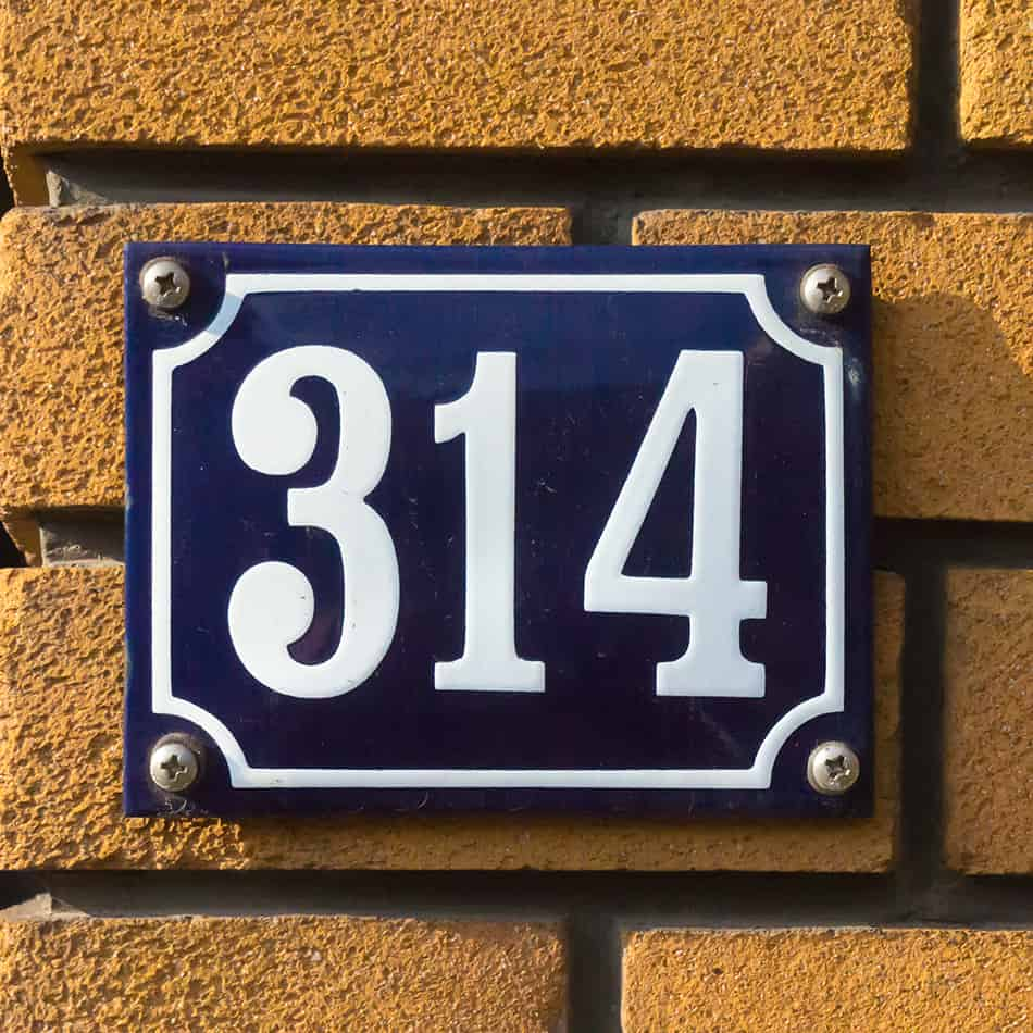 a house with a specific address