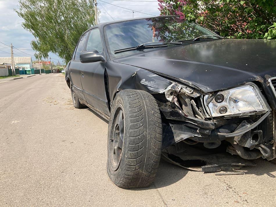 a Car Being Damaged