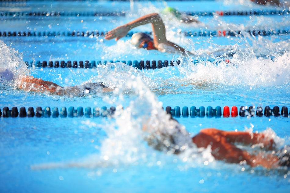swimming in an athletic competition