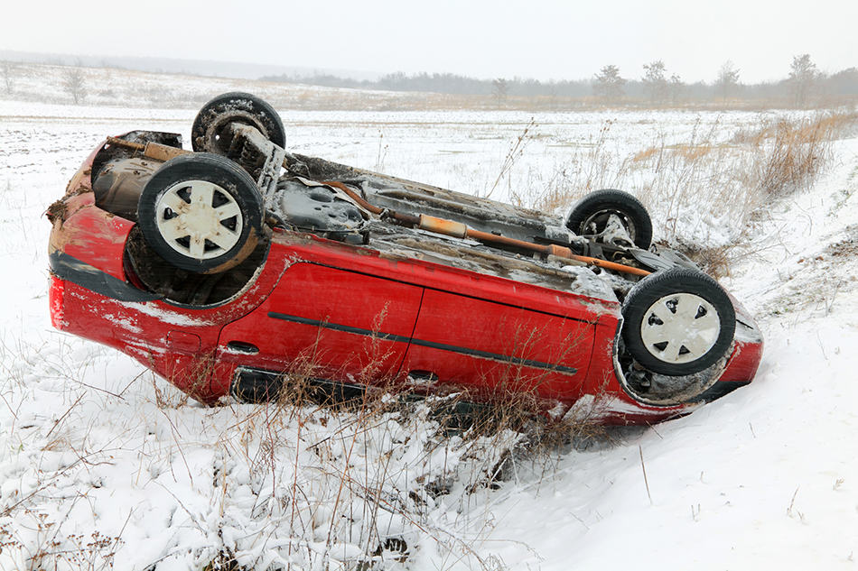 the Car Accident in the Snow