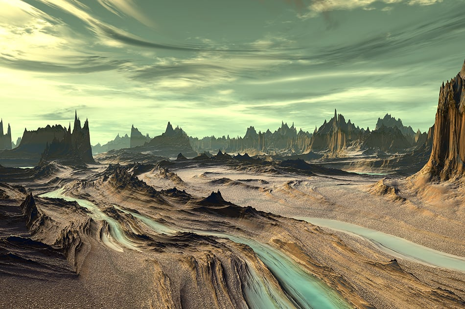Dream of an unfamiliar planet