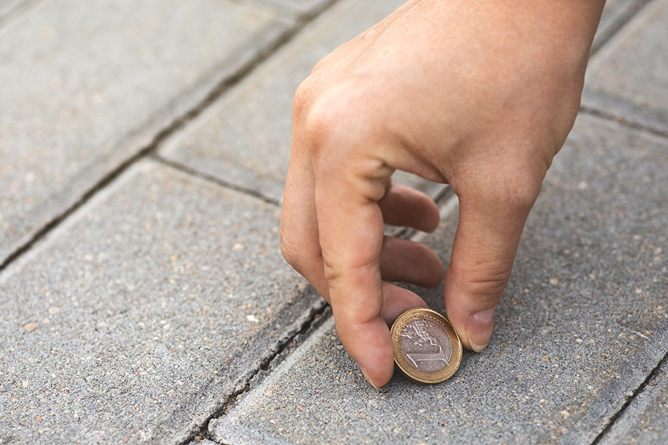 Dream of finding coins on the ground
