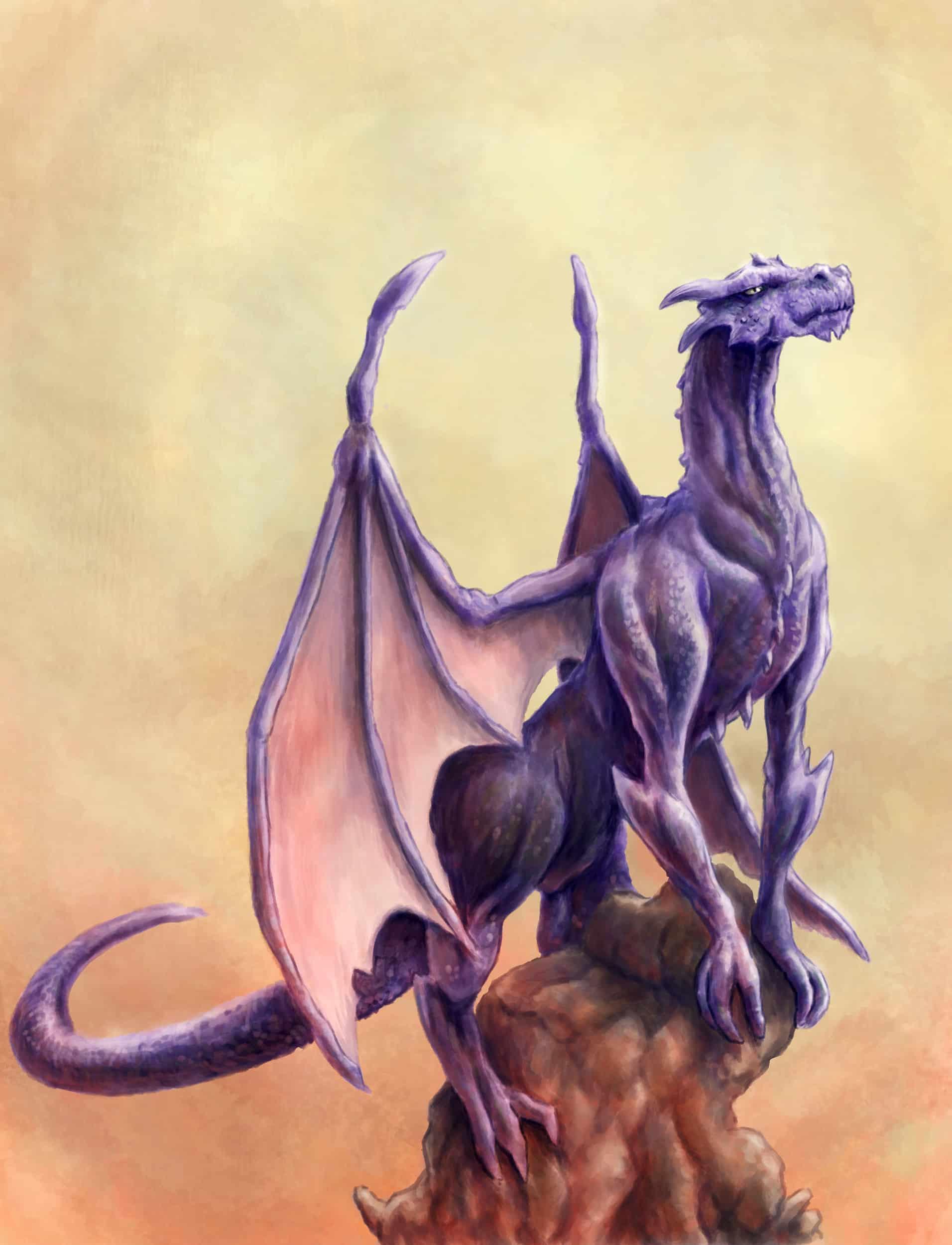 Purple dragon dream meaning