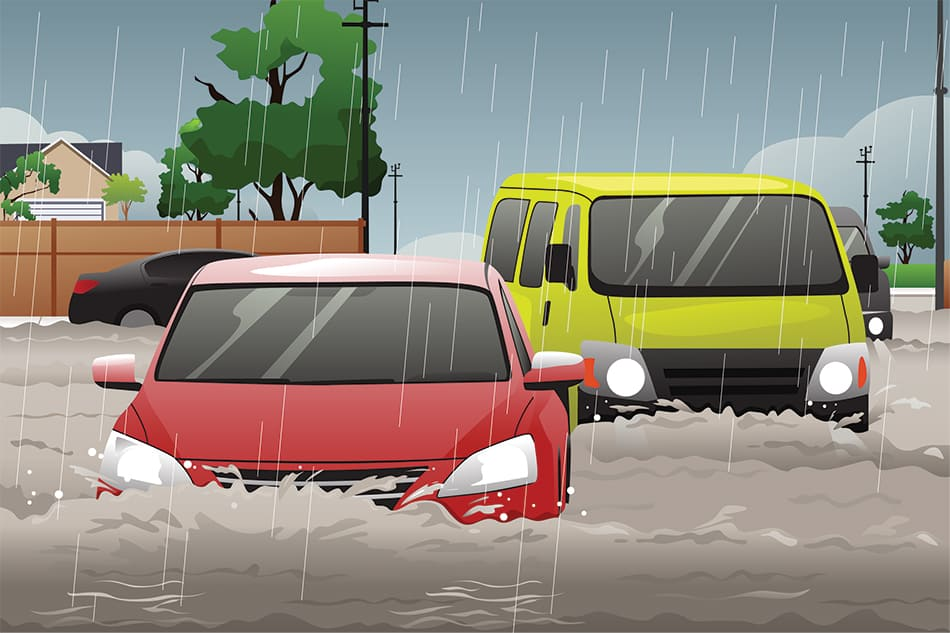 Dream of flooded roads