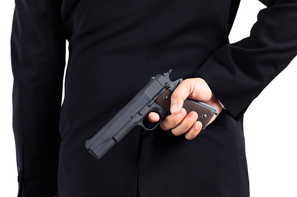 Dream of hiding a gun