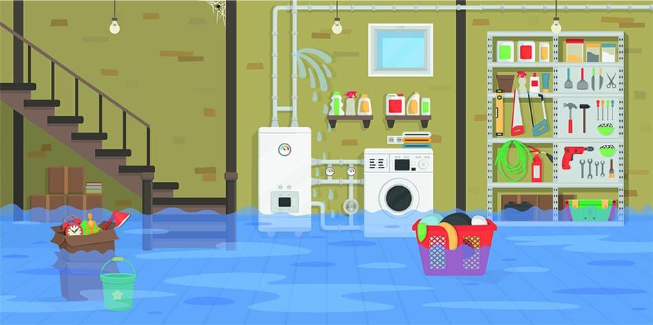 Dream of house flooding