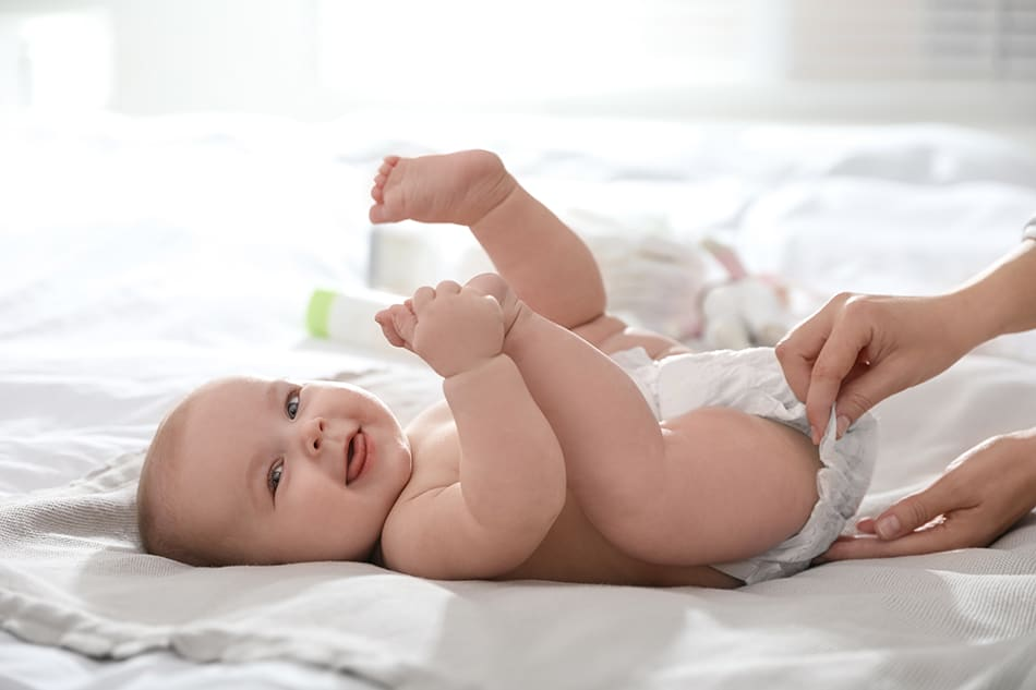 Dream of changing a baby boy's diaper