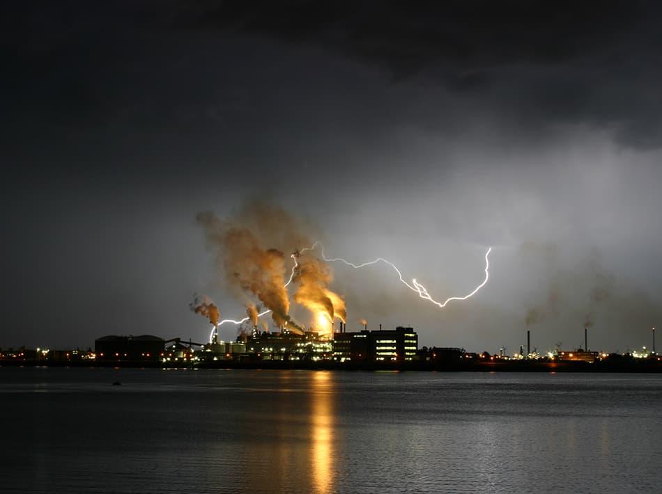 A Thunderbolt Causing Damage