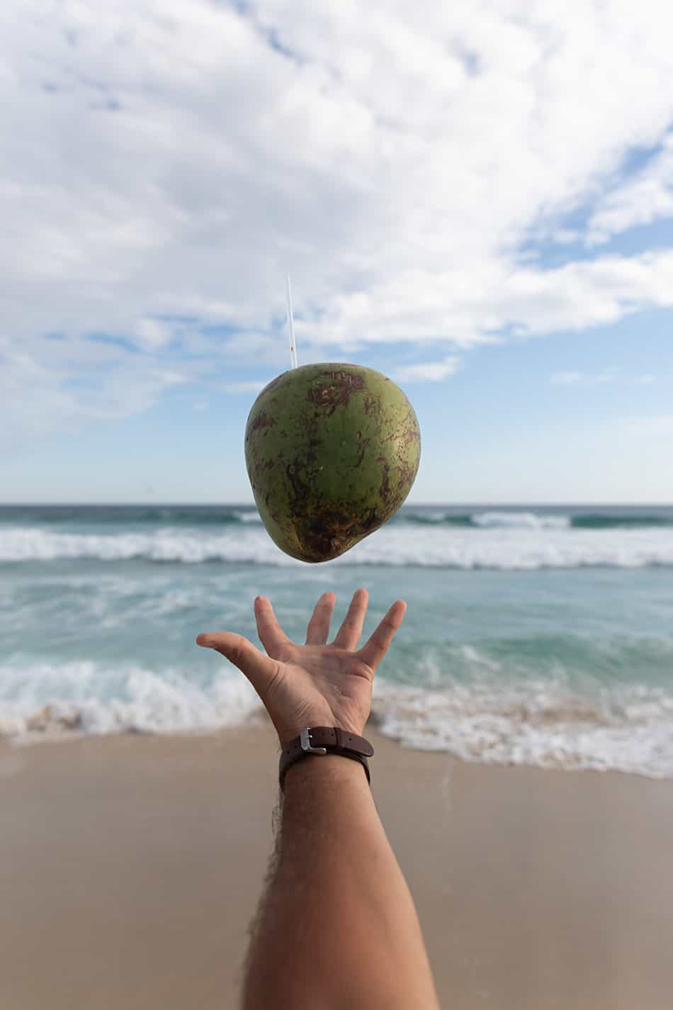 Dream of throwing a coconut
