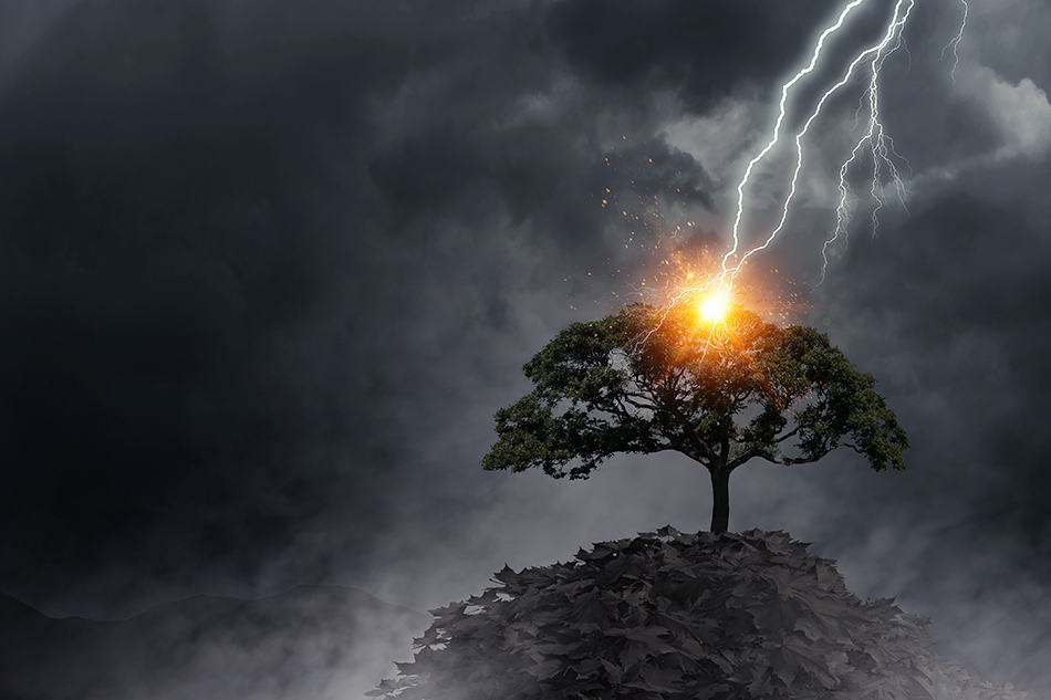 Lightning Striking An Object
