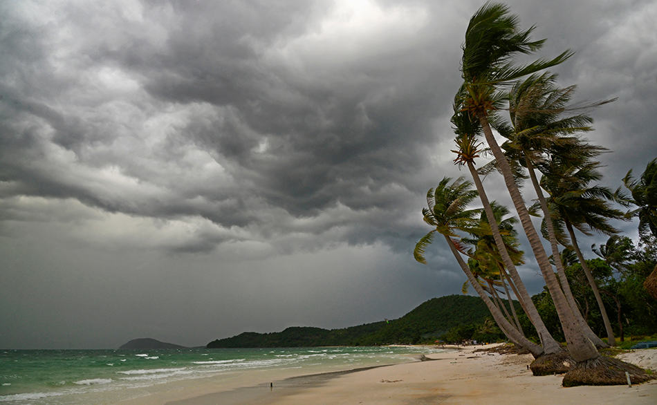 Dream of a storm on the beach