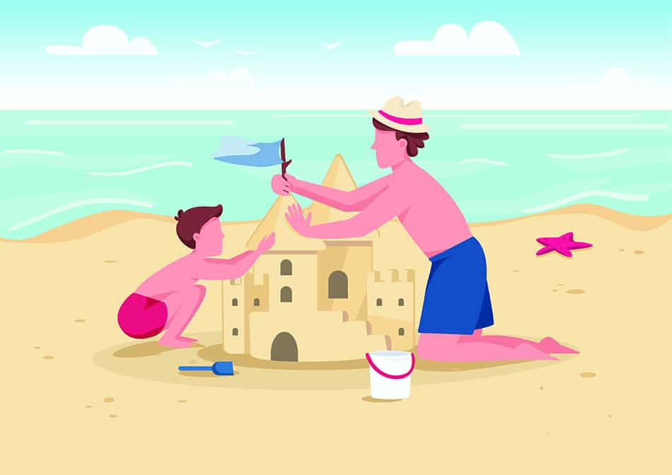 Dream of building a sandcastle