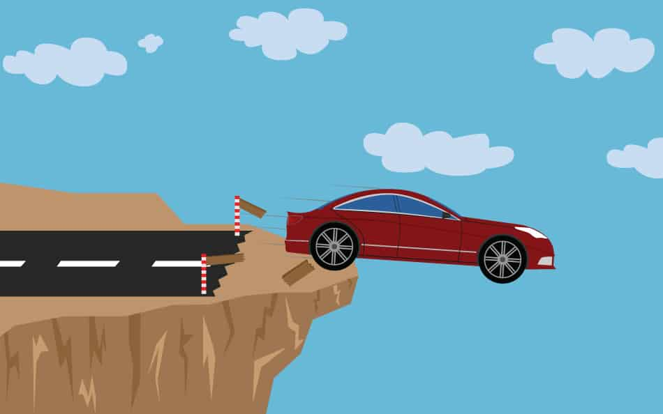 Driving off a Cliff Dream Symbolism