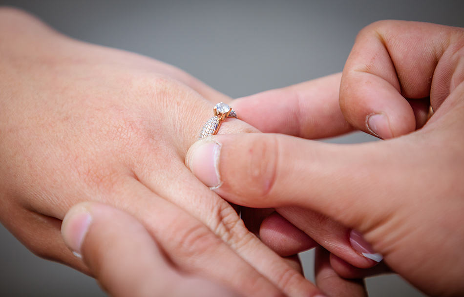 Dream of getting engaged to your spouse you are already married to
