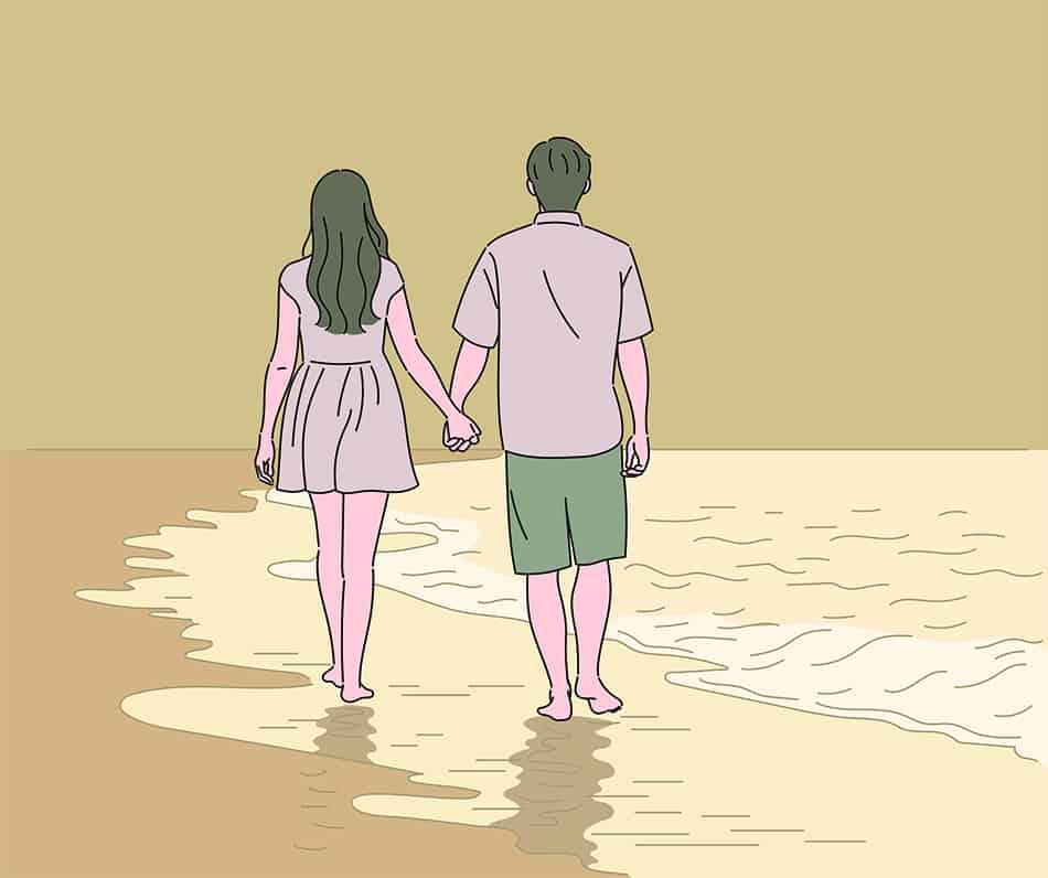 Dream of walking on the beach