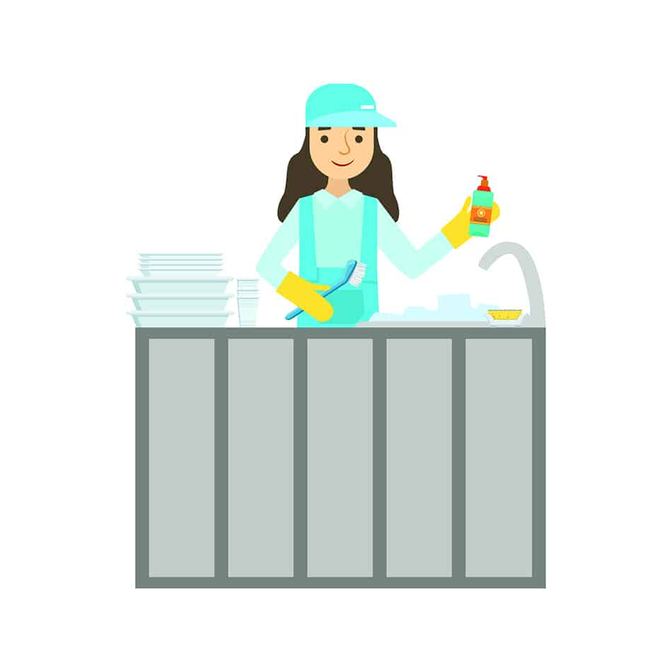 Dream of washing dishes as a job