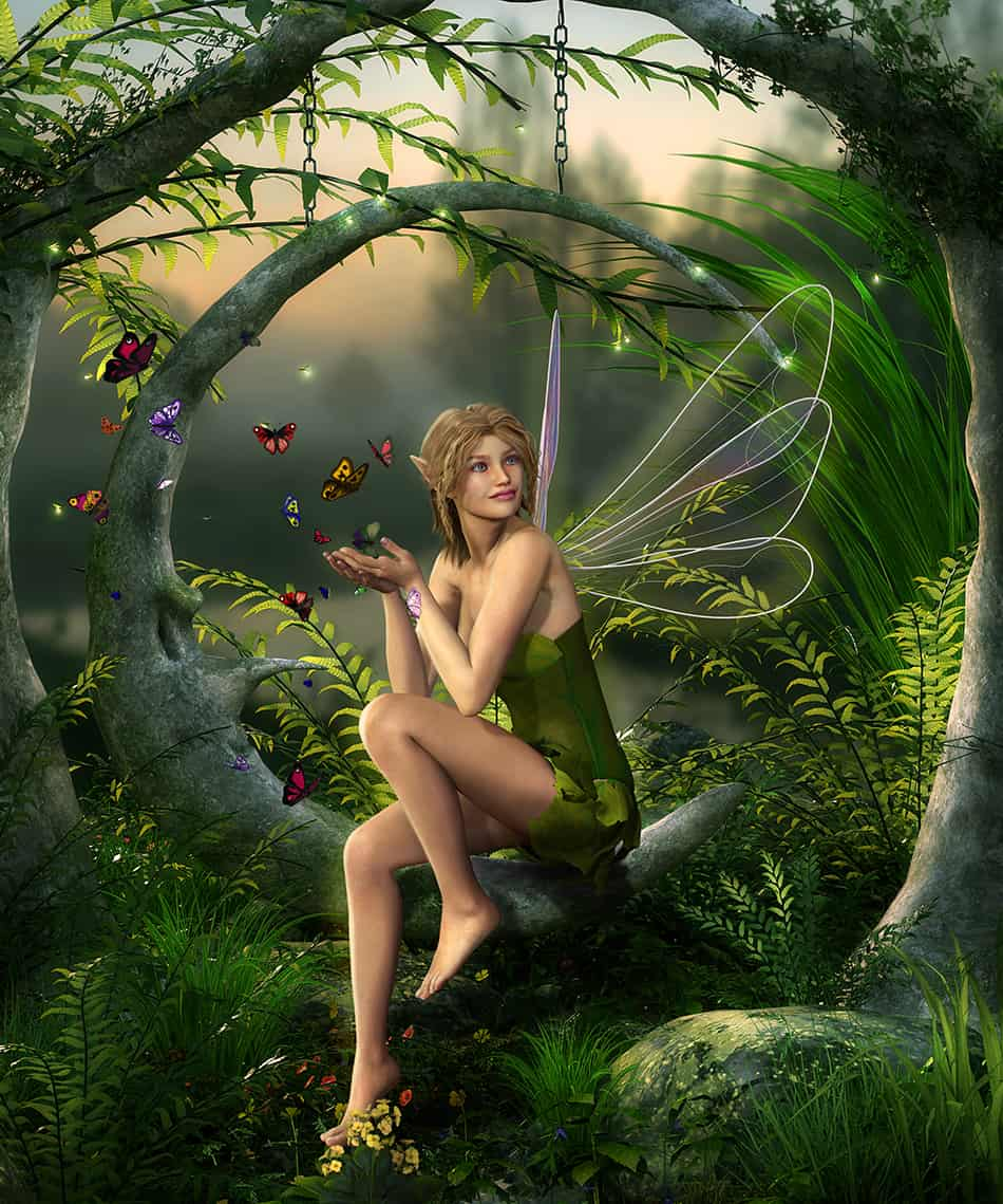Fairy as a symbol of nature