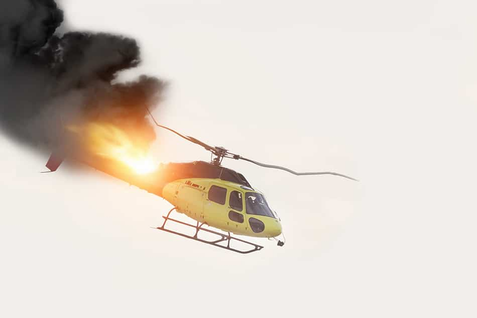 Dream of a helicopter crash