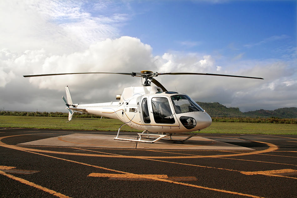 Dream of a helicopter landing on a landing pad