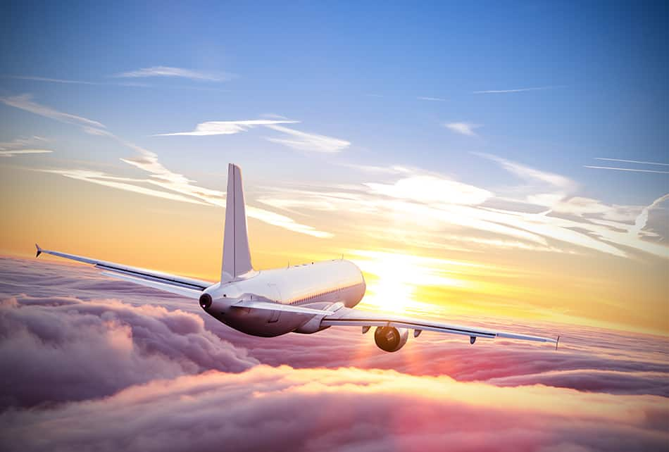 Dream of flying on a plane