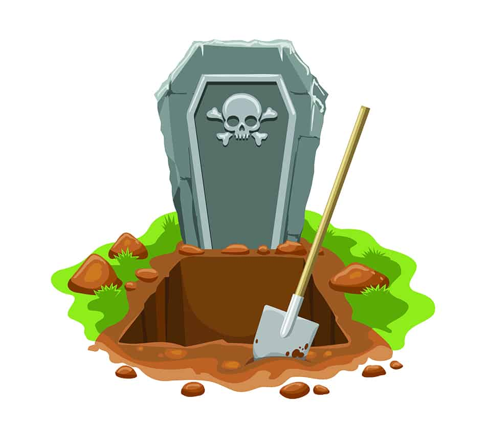 Dream of graves being dug up