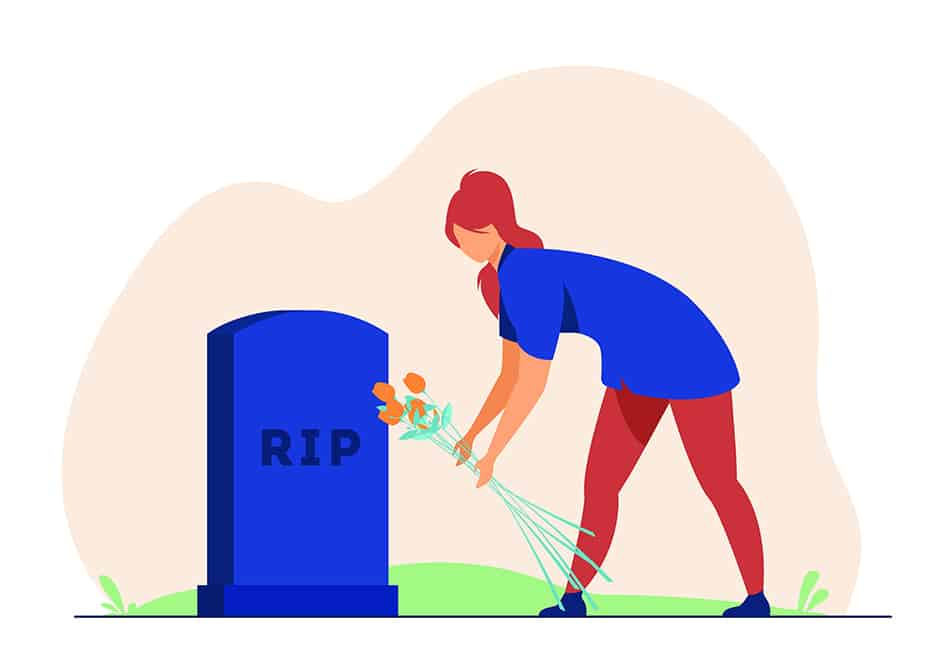 Dream of visiting a grave