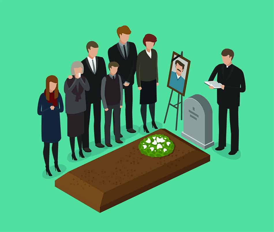 Dream of watching a burial