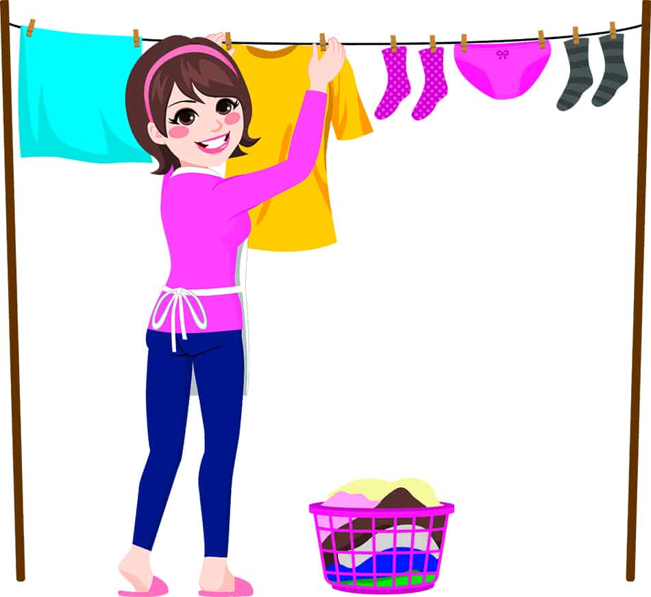 Dream of drying clothes on a clothesline