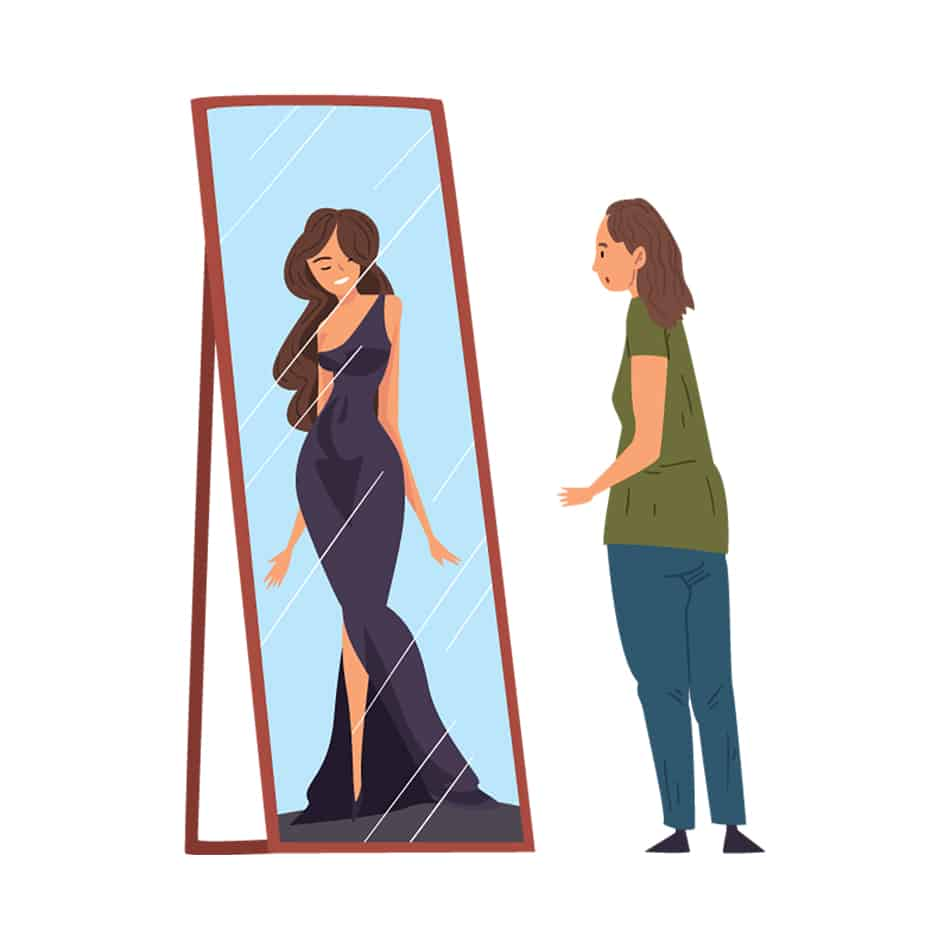 Dream of looking in a mirror and seeing someone else